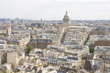 Aerial view on Paris