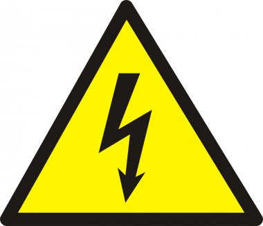 Danger of defeat by an electric current.
