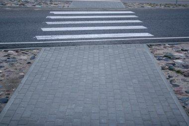Empty pedestrian crossing.