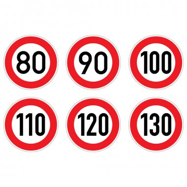 Road signs 80-130.