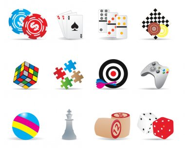 Game icons. Vector illustration for you design stock vector