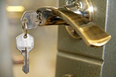 A house door lock and keys stock vector