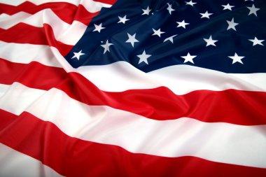 USA flag with wave