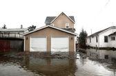 Fotografie povodeň v oblasti Seattlu, usa, washington