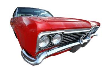 Classic 50s retro american car isolated