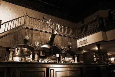 A stylish night bar with retro decor