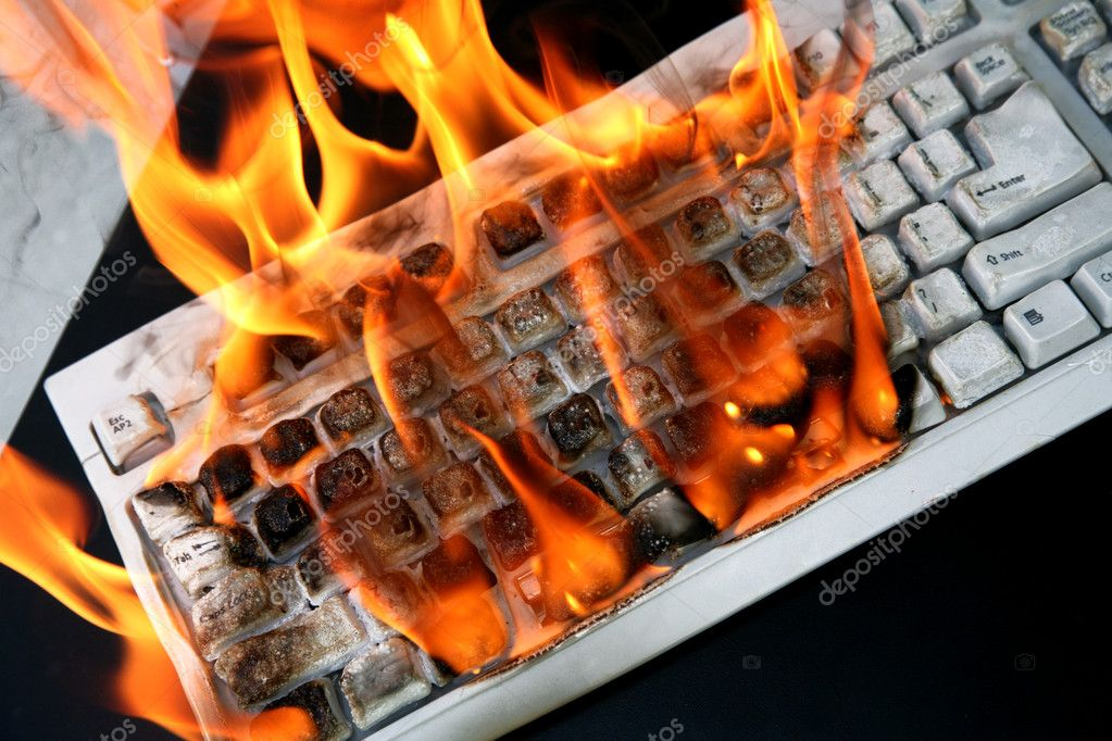 Burn keyboard — Stock Photo © konstantin32 #1632920