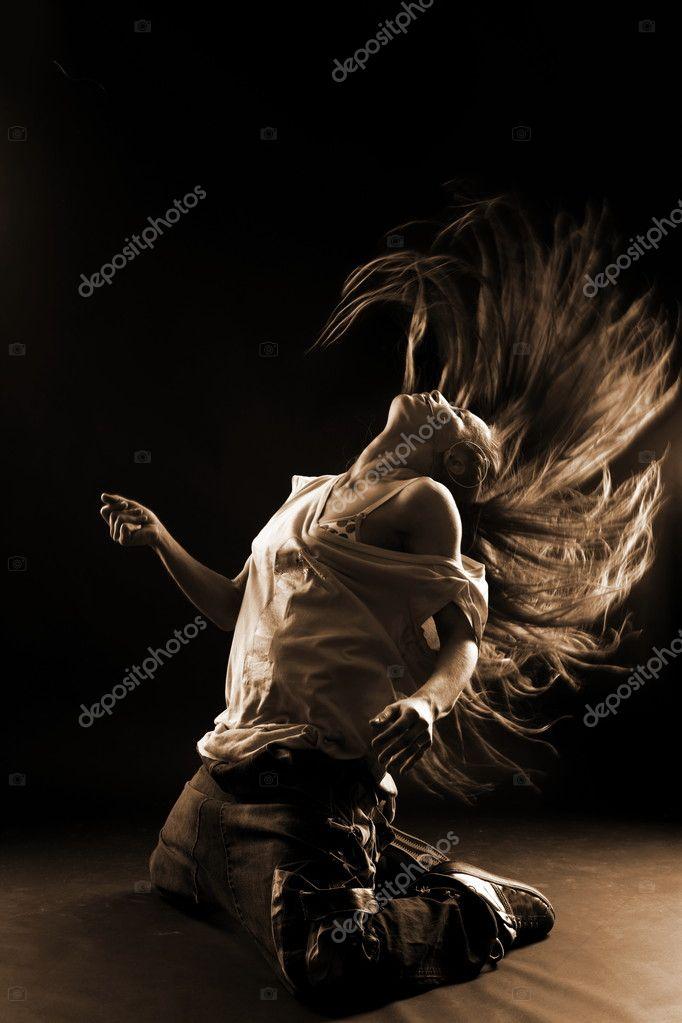 Cool woman modern dancer