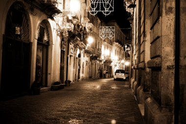 Syracuse, Sicily night street