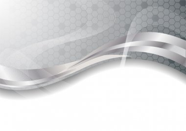 Vector silver abstract background