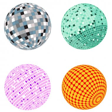 Vector disco ball set