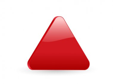 Triangular red 3d icon
