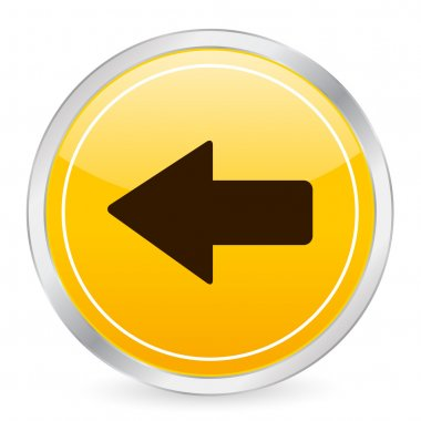 Arrow left yellow circle icon