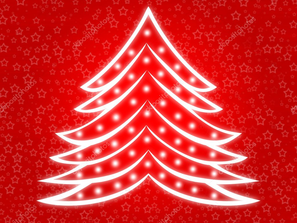 Christmas tree red 2