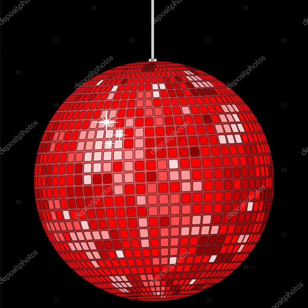 rode disco bal stockvector julydfg 2678841