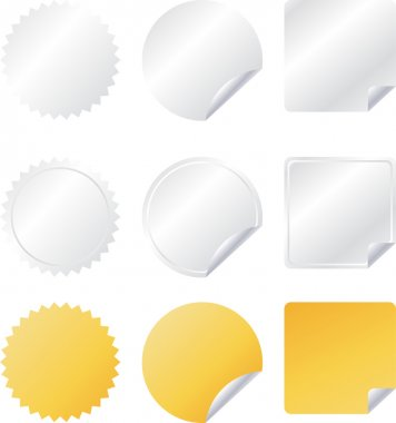 Set of paper vector web badges