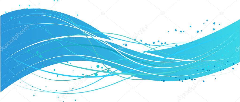 Blue wave design — Stock Vector © artlana #1125488