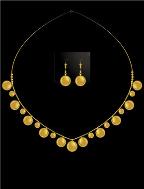 Gold coin necklace set 1