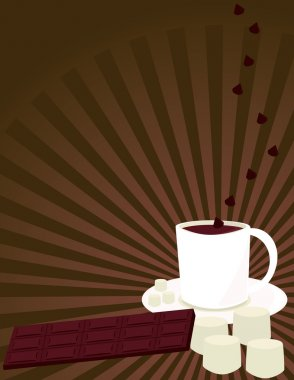 Hot chocolate background 2