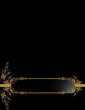 Gold Black elegant background 1