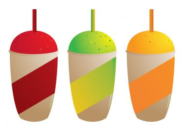 Frozen drinks isolated