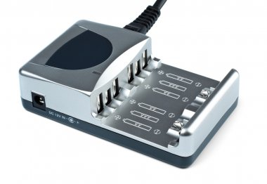 Grey battery charger