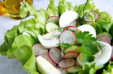 Healthy summer vegetable salad