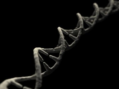 Render of DNA Isolated on Black