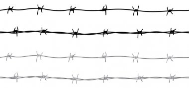 Seamless barbed wire border
