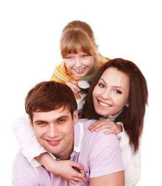 Happy family with child girl.
