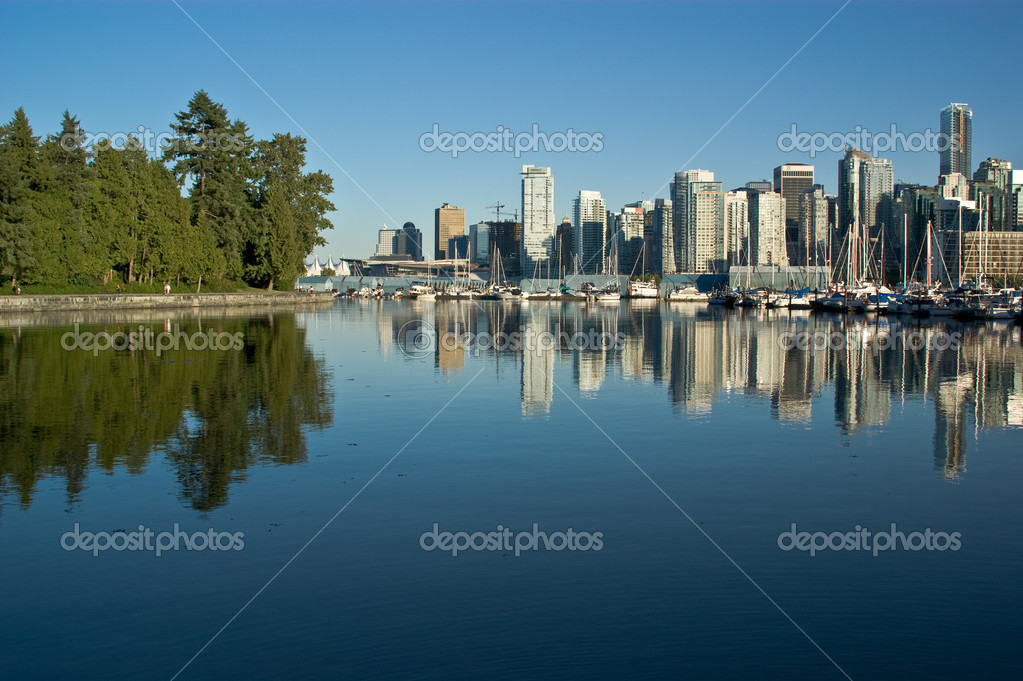 Vancouver ocean reflection