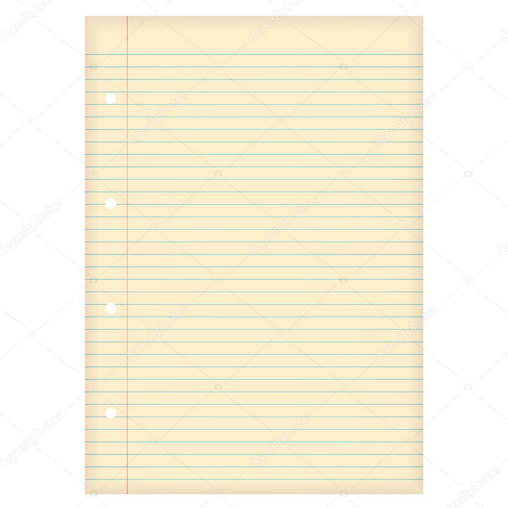 Aged lined paper Vector Nicemonkey 1118102 – Lined Paper with Picture