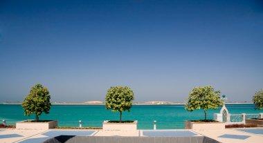 Promenade by sea in Abu Dhabi