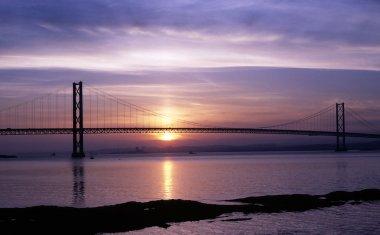 Forth Road Bridge at sunset