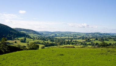 Rolling countryside in Wales