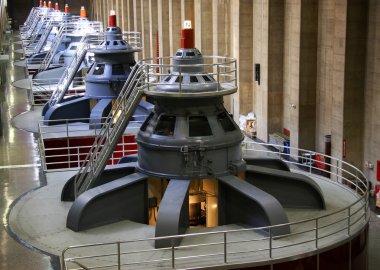 Turbines inside Hoover Dam in Arizona