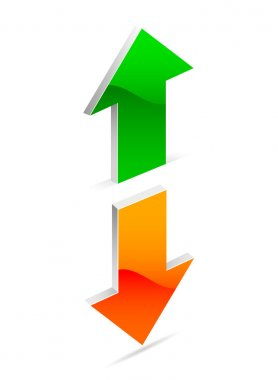 Up and down arrow