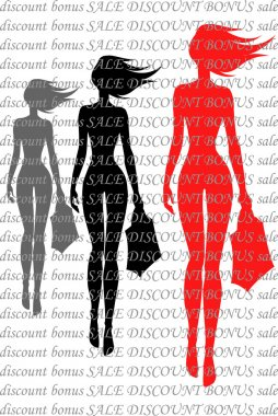 Silhouettes of girls against the text