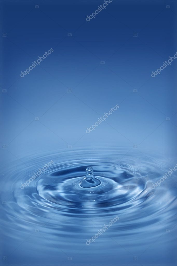Waves from the water drop