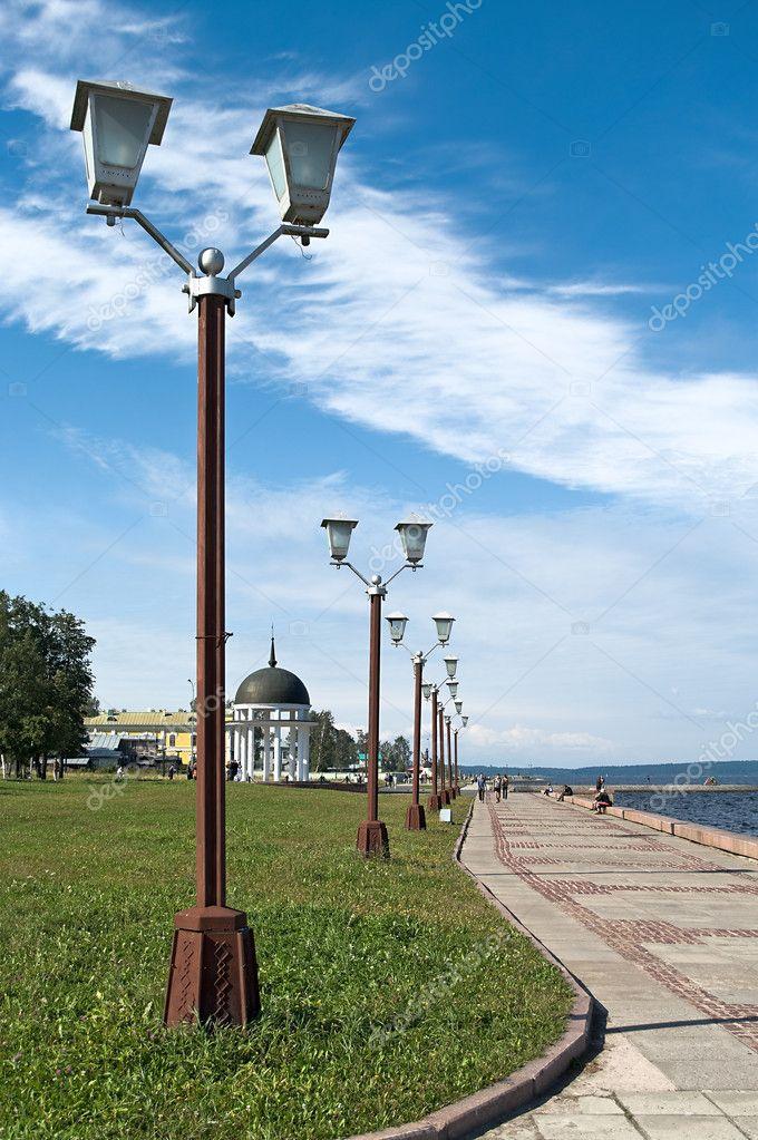 Russia city embankment