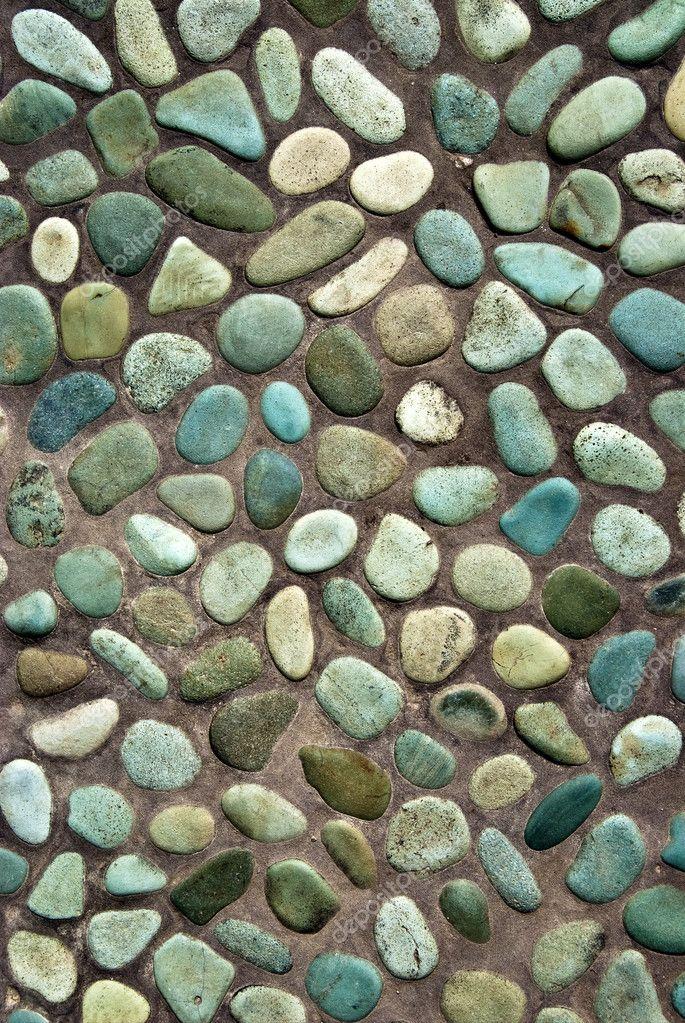Colored pebbles path