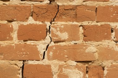 Wall brick cracked background