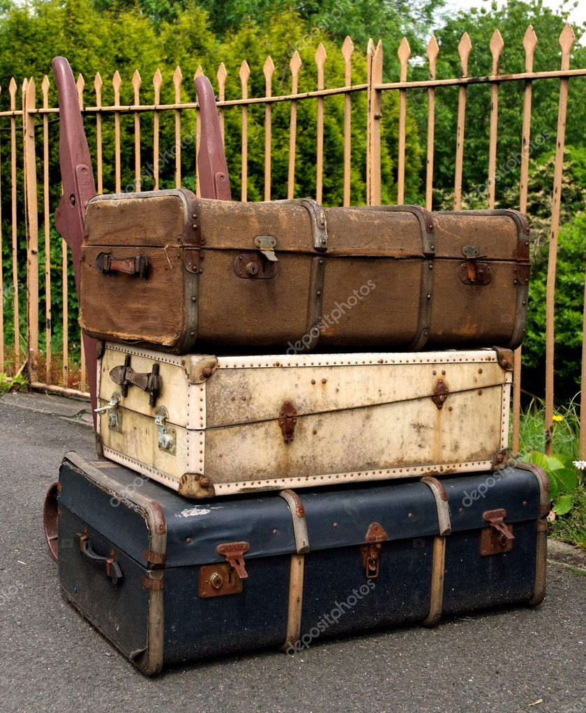 Old Suitcases Old Suitcases Stock Photo Ac Iopeners 2170355