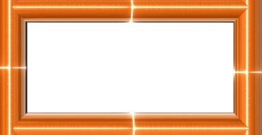 Orange glass frame