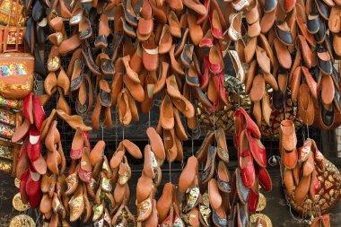 Footwear at arabic bazaar
