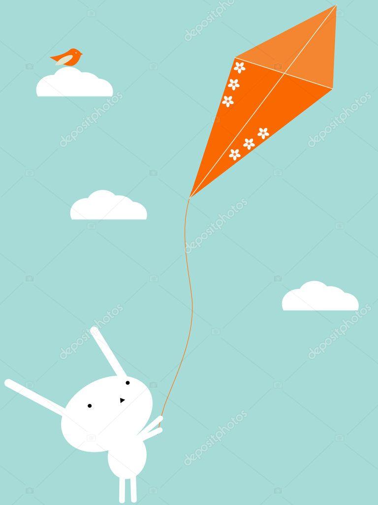 flying kite illustration - photo #43