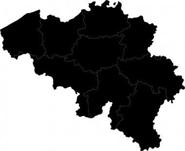 Black Belgium map