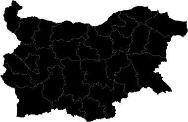 Black Bulgaria map