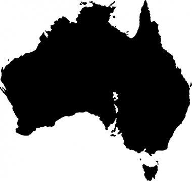 Black Australia map