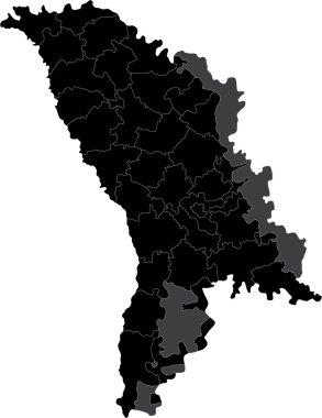 Black Moldova map